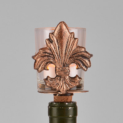 Gold Fleur-de-lis Votive Wine Bottle Stopper