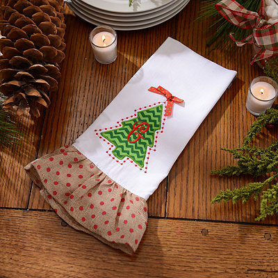 Christmas Tree Monogram G Hand Towel