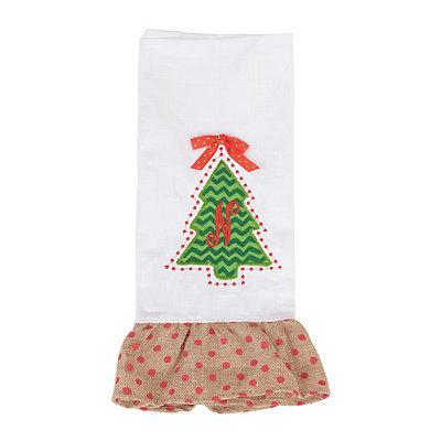 Christmas Tree Monogram N Hand Towel