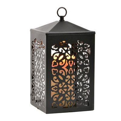Black Scroll Lantern Candle Warmer