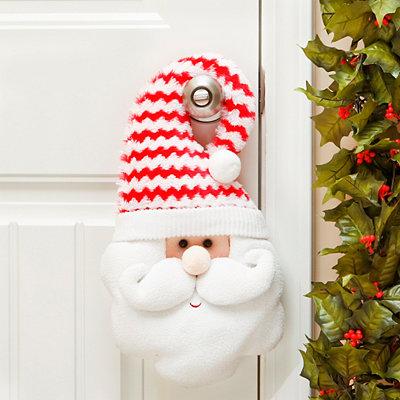 Chevron Santa Claus Door Hanger