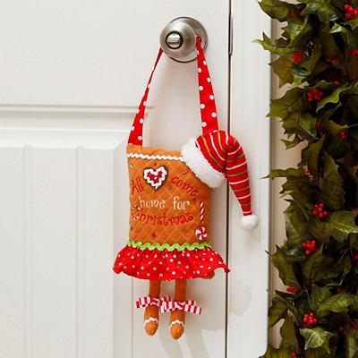 Gingerbread Man Feet Man Door Hanger