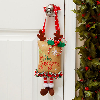 Reindeer Feet Door Hanger
