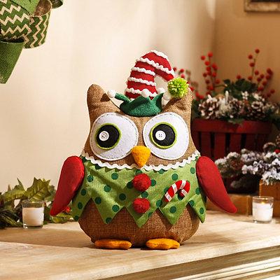 Cuddly Christmas Elf Owl