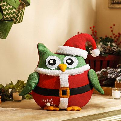 Cuddly Christmas Santa Owl