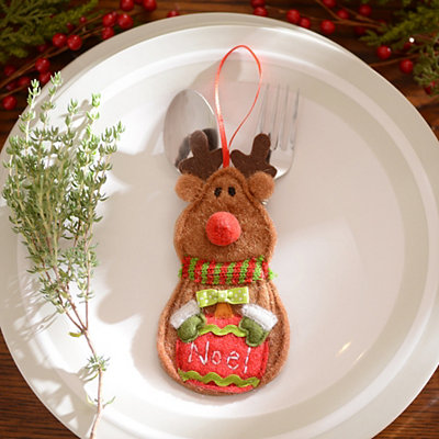 Reindeer Silverware Holder, Set of 6