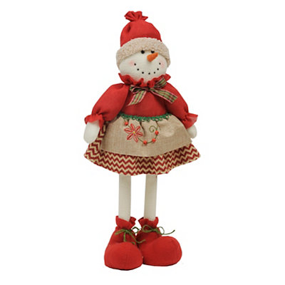 Plush Girl Snowman, 23 in.