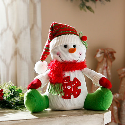 Joy Smiling Snowman Sitter