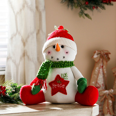Peace Smiling Snowman Sitter