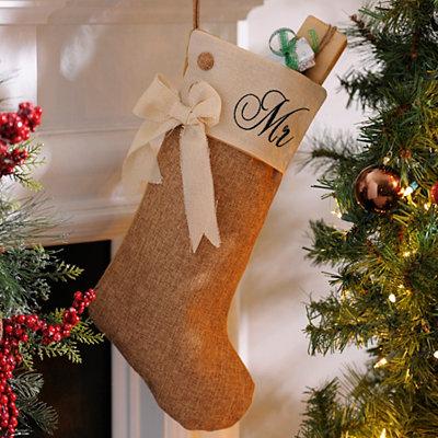 Mr. Burlap Christmas Stocking