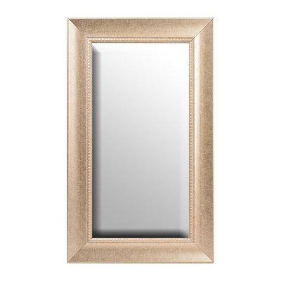 Antique Silver Framed Mirror, 29x49