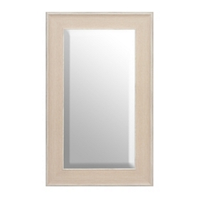 White Driftwood Framed Mirror, 29x49