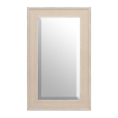 White Driftwood Framed Mirror, 29x49