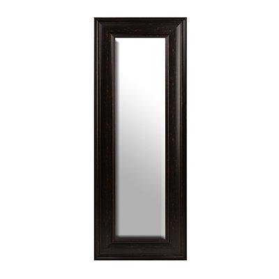 Distressed Black Framed Mirror, 20x56