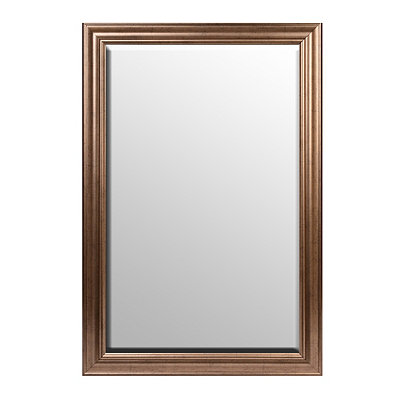 Antiqued Silver Framed Mirror, 37x56