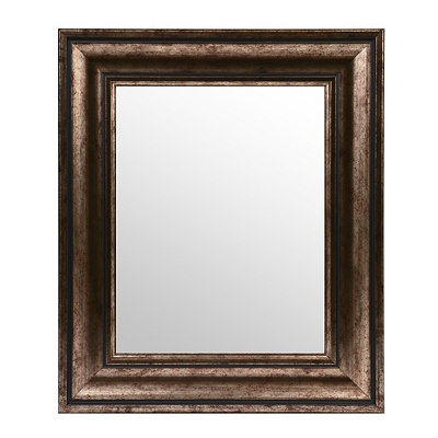 Antiqued Silver Framed Mirror, 16x19