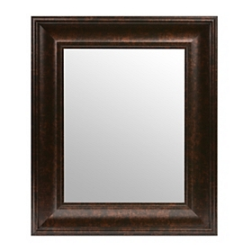 Dark Bronze Beveled Framed Mirror, 16x19