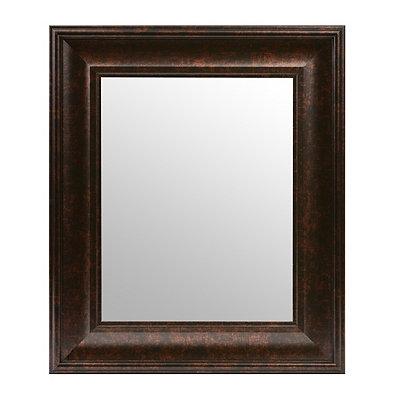 Dark Bronze Beveled Framed Mirror, 16x19