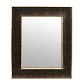 Textured Brown Framed Mirror, 16x19