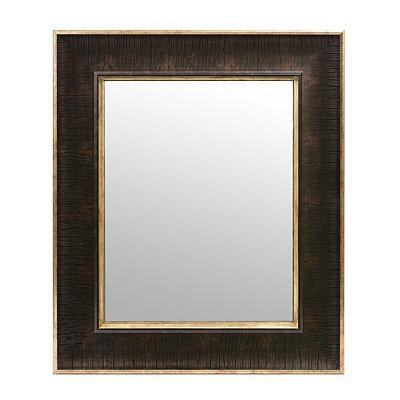Textured Brown Framed Mirror, 16x19