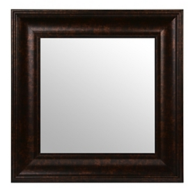 Dark Bronze Square Framed Mirror, 17x17