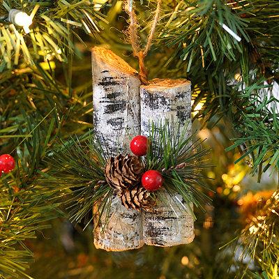 White Birch Bundle Ornament