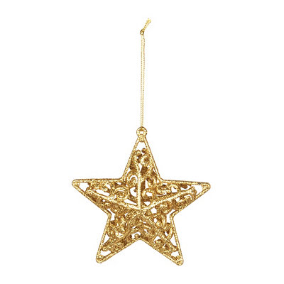 Gold Swirl Star Ornament