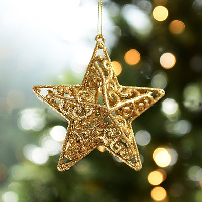 Gold Swirl Star Ornament