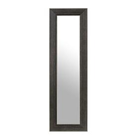 Distressed Black Framed Mirror, 8x30
