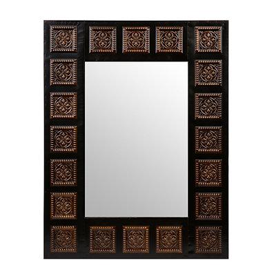 Antique Gold Medallion Framed Mirror, 27.5x35.5