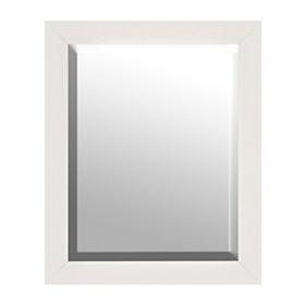 White Squares Framed Mirror, 28x34
