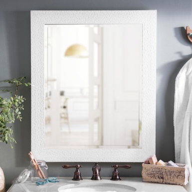 White Frame Bathroom Mirror framed mirrors - bathroom mirrors | kirklands
