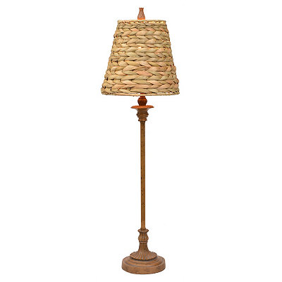 Brown Seagrass Buffet Lamp