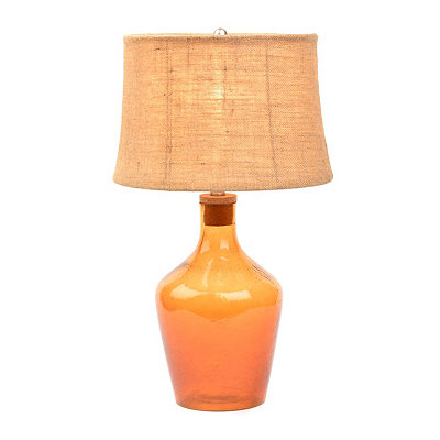 Amber Glass Fillable Table Lamp