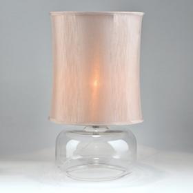 Silver Pillar Table Lamp