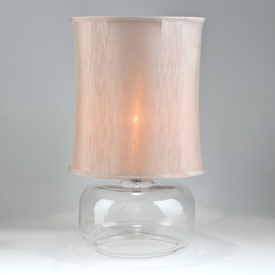 Silver Pillar Table Lamp