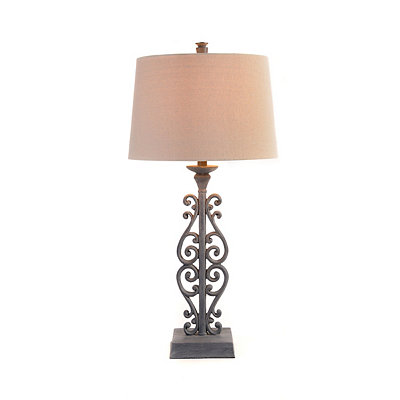 Black Scroll Gate Table Lamp