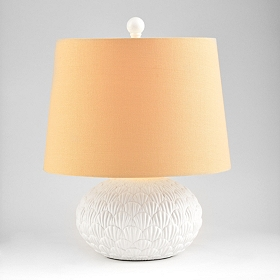 White Sea Urchin Table Lamp