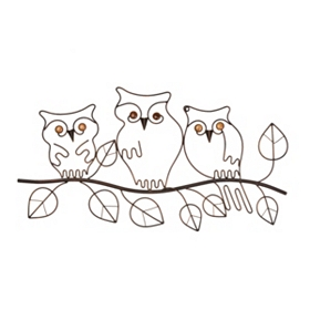 Outdoor Owls Wall Plaque