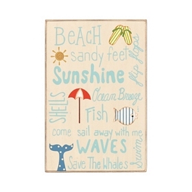 Ocean Breeze Wooden Sign