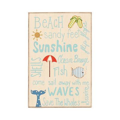 Ocean Breeze Wooden Sign