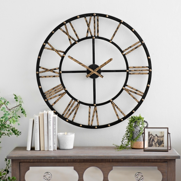 addison open face clock 30 in