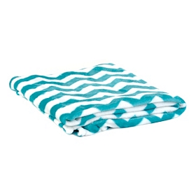 Turquoise & White Chevron Throw Blanket