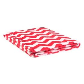 Pink & White Chevron Throw Blanket
