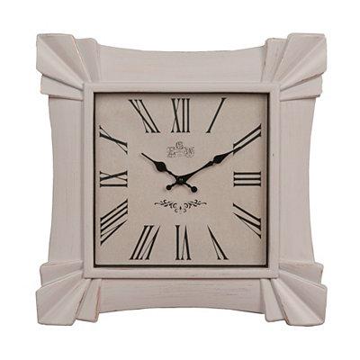 Antique White Amhurst Clock