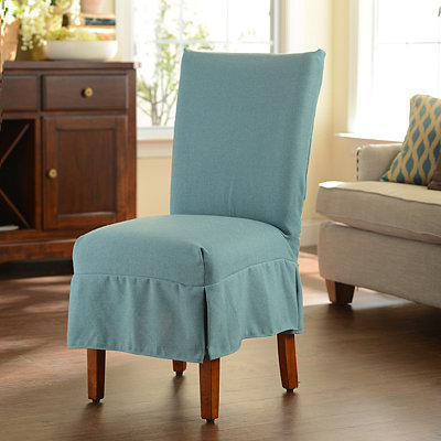 Blue Parsons Chair Slipcover