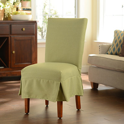 Green Parsons Chair Slipcover