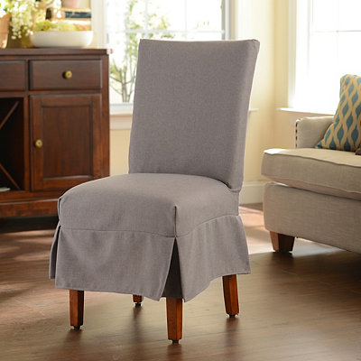 Gray Parsons Chair Slipcover