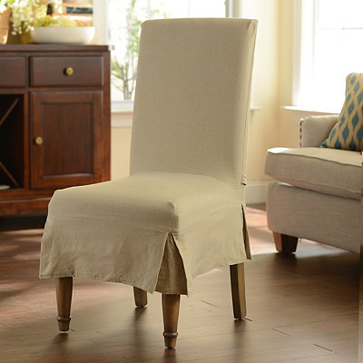 Oatmeal Parsons Chair Slipcover