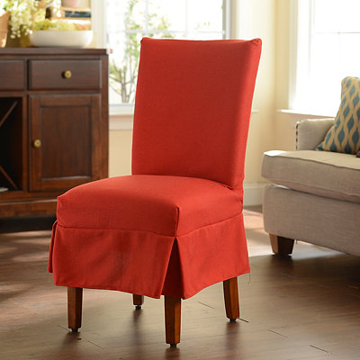 Red Parsons Chair Slipcover